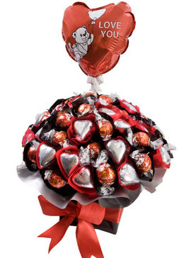 So Loved - Chocolate Arrangement with FREE BALLOON