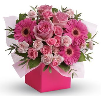 think-pink-flower-arrangement