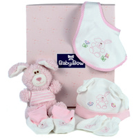 Pink Honey Bunny - Baby Hamper