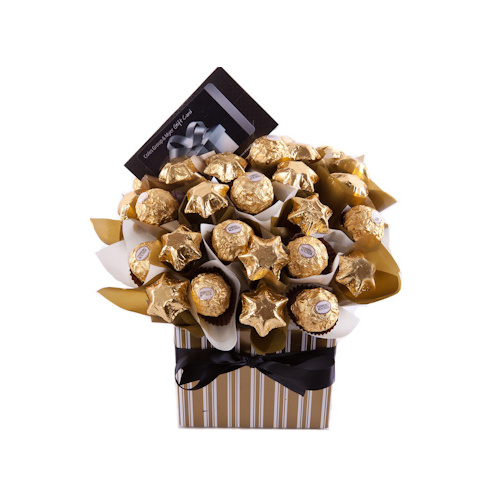 Chocolate bouquets chocolate gift baskets hampers delivered gift giving chocolate bouquet gift hamper negle Choice Image